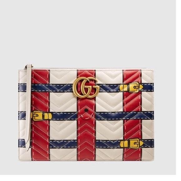 78e1c4b8513 Gucci Gg marmont Trompe l oeil Pouch
